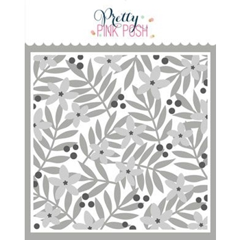 Pretty Pink Posh LAYERED LEAVES AND FLOWERS Stencils 3 Pack