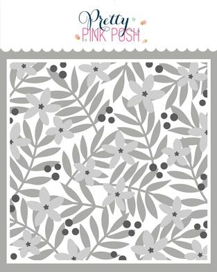Pretty Pink Posh LAYERED LEAVES AND FLOWERS Stencils 3 Pack zoom image