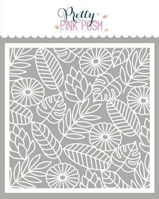 Pretty Pink Posh JUNGLE BACKGROUND Stencil  zoom image