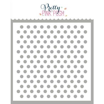 Pretty Pink Posh MEDIUM POLKA DOT Stencil
