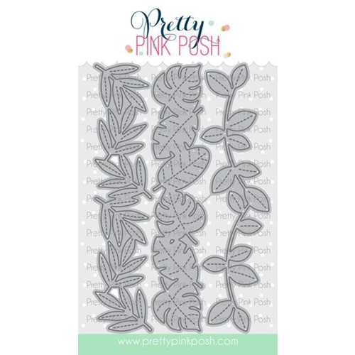 Pretty Pink Posh STITCHED LEAFY BORDERS Dies Preview Image
