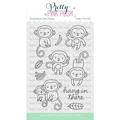 Pretty Pink Posh MONKEY FRIENDS Clear Stamps Preview Image