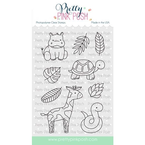 Pretty Pink Posh JUNGLE ADDITIONS Clear Stamps Preview Image