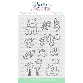 Pretty Pink Posh JUNGLE ADDITIONS Clear Stamps