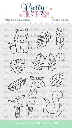 Pretty Pink Posh JUNGLE ADDITIONS Clear Stamps zoom image