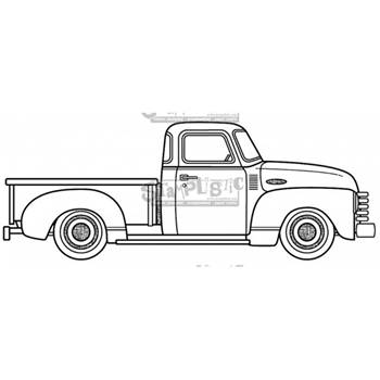Stamplistic Cling Stamp 53 CHEVY k200501