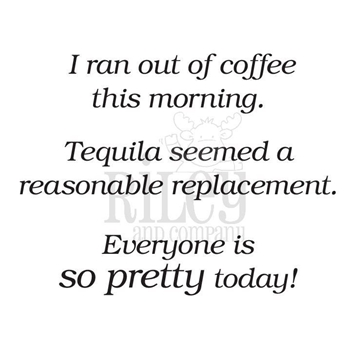 Riley And Company Funny Bones COFFEE REPLACEMENT Cling Stamp RWD-809