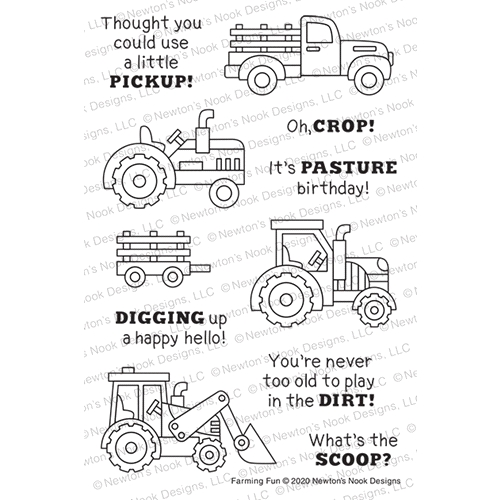 Newton's Nook Designs FARMING FUN Clear Stamps NN2006S03 Preview Image