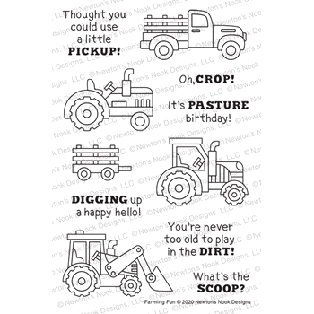 Newton's Nook Designs FARMING FUN Clear Stamps NN2006S03