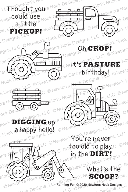 Newton's Nook Designs FARMING FUN Clear Stamps NN2006S03 zoom image