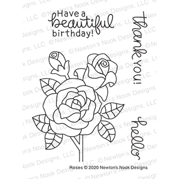 Newton's Nook Designs ROSES Clear Stamps NN2006S04