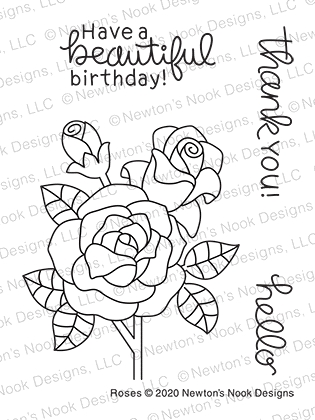 Newton's Nook Designs ROSES Clear Stamps NN2006S04 zoom image