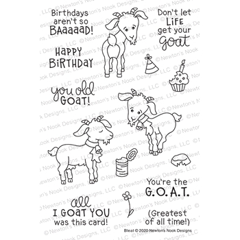 Newton's Nook Designs BLEAT Clear Stamps NN2006S02