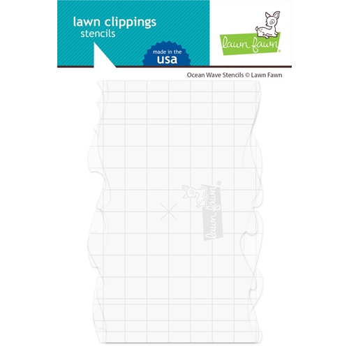 Lawn Fawn OCEAN WAVE Stencils lf2365 Preview Image