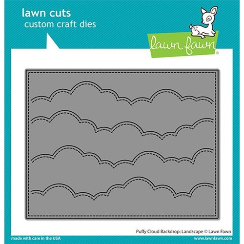 Lawn Fawn LANDSCAPE PUFFY CLOUD BORDER Die lf2351 Preview Image