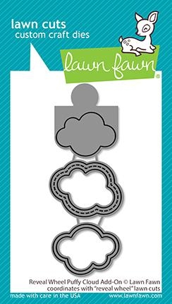 Lawn Fawn REVEAL WHEEL PUFFY CLOUD ADD-ON Dies lf2349 Preview Image