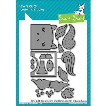 Lawn Fawn TINY GIFT BOX UNICORN AND HORSE ADD-ON Dies lf2173