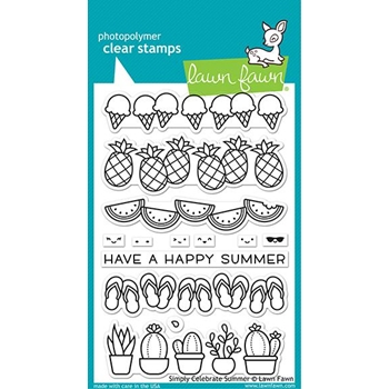 Lawn Fawn SIMPLY CELEBRATE SUMMER Clear Stamps lf2333