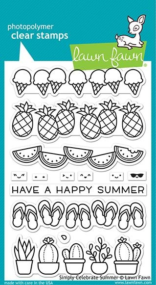 Lawn Fawn SIMPLY CELEBRATE SUMMER Clear Stamps lf2333 zoom image