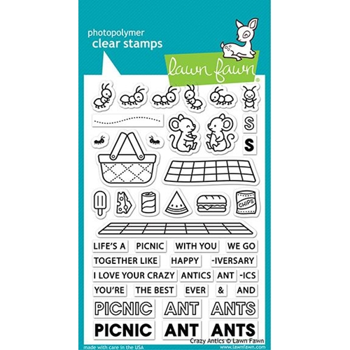 Lawn Fawn CRAZY ANTICS Clear Stamps lf2336 Preview Image