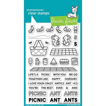 Lawn Fawn CRAZY ANTICS Clear Stamps lf2336