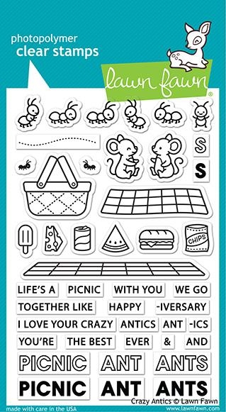 Lawn Fawn CRAZY ANTICS Clear Stamps lf2336 zoom image