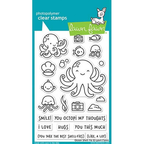 Lawn Fawn OCEAN SHELL-FIE Clear Stamps lf2329 Preview Image