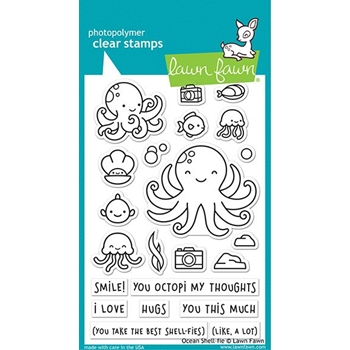 Lawn Fawn OCEAN SHELL-FIE Clear Stamps lf2329