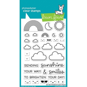 Lawn Fawn ALL THE CLOUDS Clear Stamps lf2331