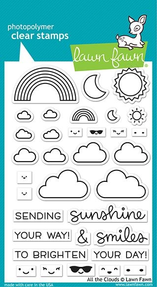 Lawn Fawn ALL THE CLOUDS Clear Stamps lf2331 zoom image
