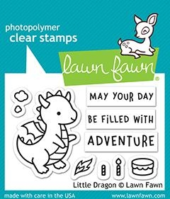 Lawn Fawn LITTLE DRAGON Clear Stamps lf2323