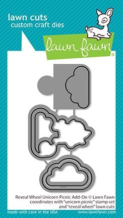 Lawn Fawn REVEAL WHEEL UNICORN PICNIC ADD-ON Dies lf2321 Preview Image