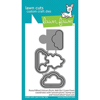 Lawn Fawn REVEAL WHEEL UNICORN PICNIC ADD-ON Dies lf2321