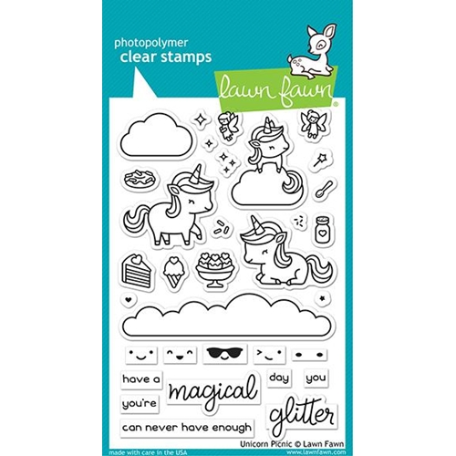 Lawn Fawn UNICORN PICNIC Clear Stamps lf2319 Preview Image