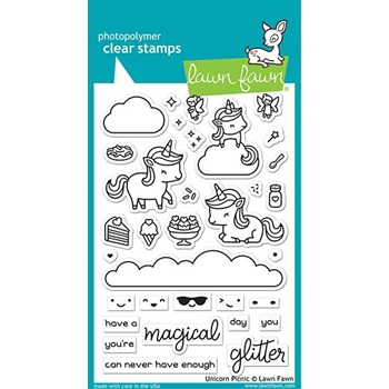 Lawn Fawn UNICORN PICNIC Clear Stamps lf2319