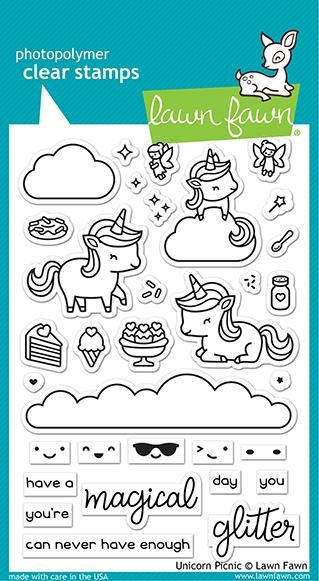 Lawn Fawn UNICORN PICNIC Clear Stamps lf2319 zoom image
