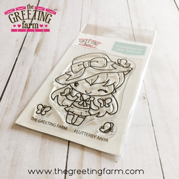 The Greeting Farm FLUTTERBY ANYA Clear Stamps tgf554