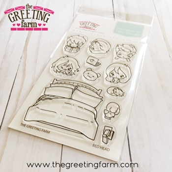 The Greeting Farm BED HEAD Clear Stamps tgf556