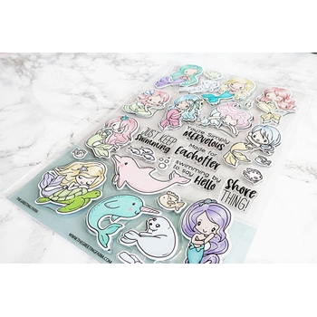 The Greeting Farm MERMAIDS GALORE Clear Stamps tgf557