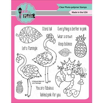 Pink and Main LET'S FLAMINGLE Clear Stamps PM0412