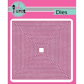 Pink and Main LAYERED SQUARE Dies PNM284