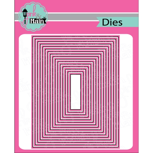 Pink and Main LAYERED RECTANGLES A2 Dies PNM282 Preview Image