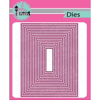Pink and Main LAYERED RECTANGLES A2 Dies PNM282