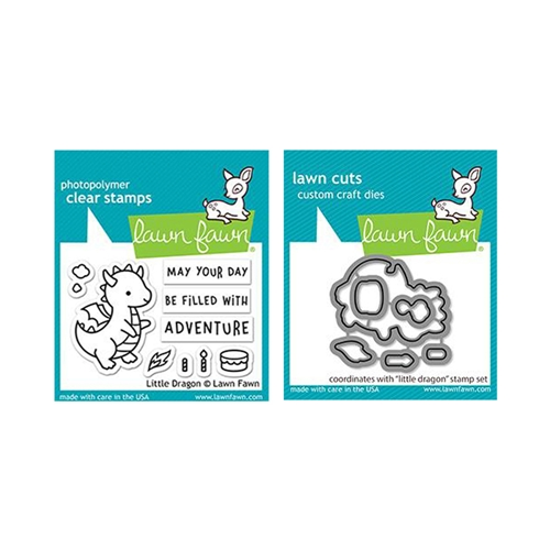 Lawn Fawn SET LITTLE DRAGON Clear Stamps and Dies lfld Preview Image