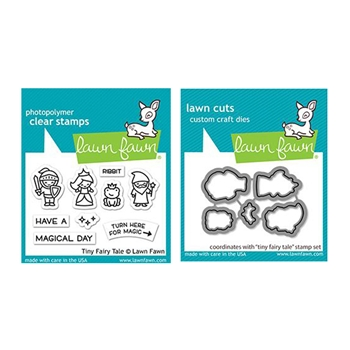 Lawn Fawn SET TINY FAIRY TALE Clear Stamps and Dies lftft