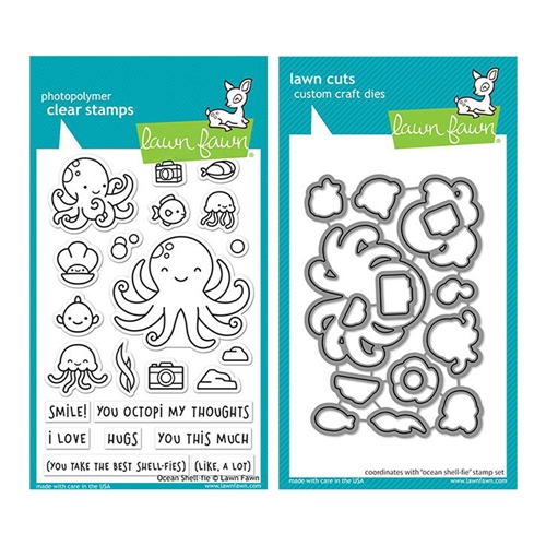 Lawn Fawn SET OCEAN SHELL-FIE Clear Stamps and Dies lfosf Preview Image
