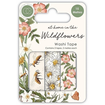 Craft Consortium AT HOME IN THE WILD FLOWERS WASHI TAPE CCWTPE005