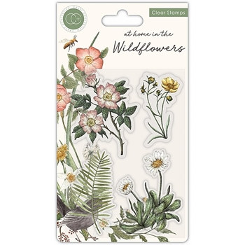 Craft Consortium AT HOME IN THE WILD FLOWERS FLORA Clear Stamps CCSTMP036