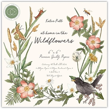 Craft Consortium AT HOME IN THE WILD FLOWERS 6 x 6 Paper Pad CCPPAD018B