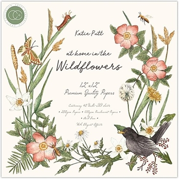 Craft Consortium AT HOME IN THE WILD FLOWERS 12 x 12 Paper Pad CCPPAD018